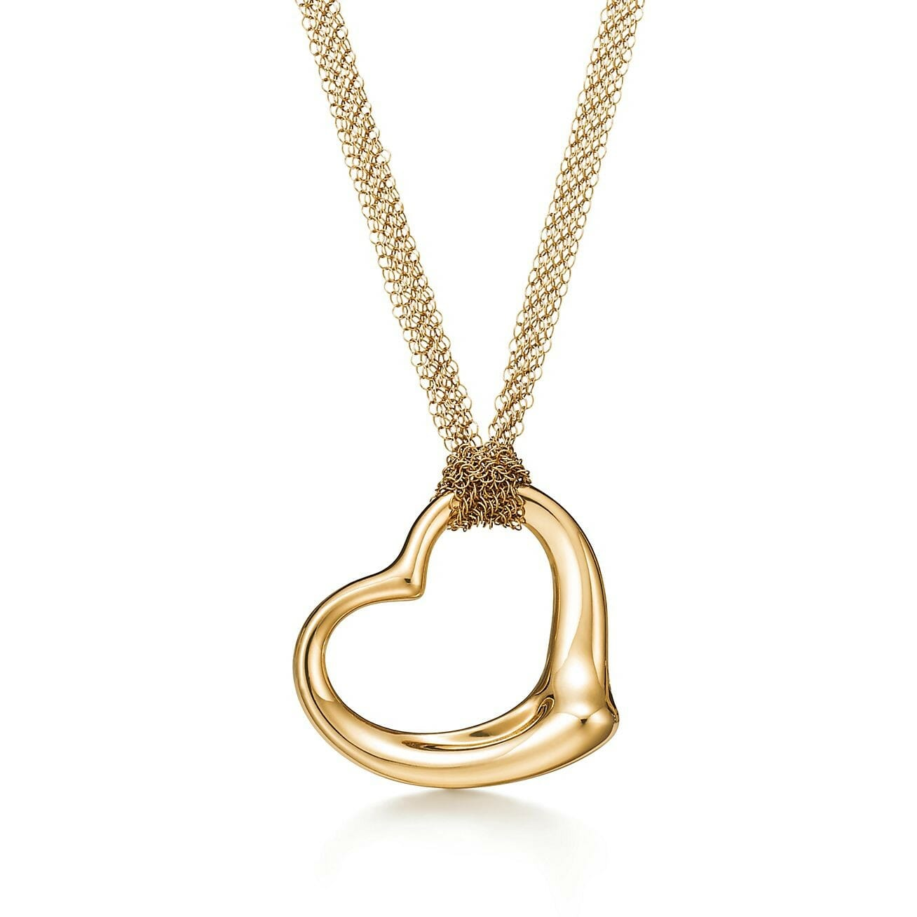 Mothers Day Gift ideas from Newport Living and Lifestyles Tiffany & Co. Elsa Peretti® heart necklace Open Heart Pendant in gold &5200