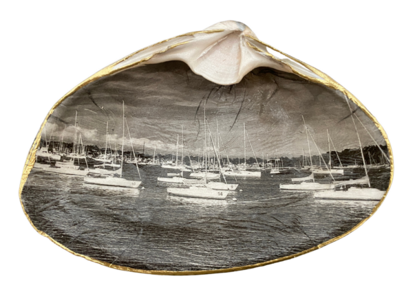 Black and White Sailboats ChrisClineDesign Custom Shell