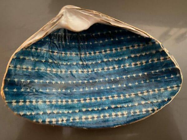Shibori print dotted stripes ChrisClineDesign Shell