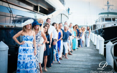 Blue and White Micro Fundraiser Sunset Dinner