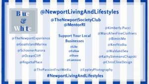 Newport Living and Lifestyles Blue and White Micro Fundraiser for MentorRIBlueWhite